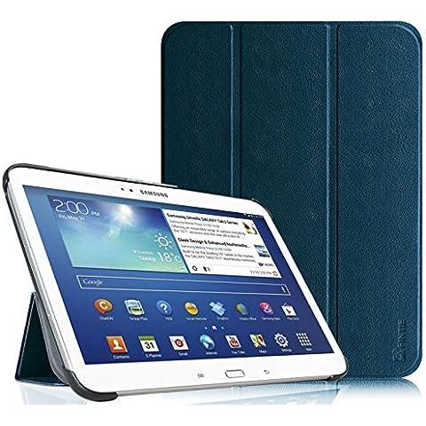 Funda Samsung Galaxy Tab 3 10.1 - Fintie Ultra Slim Smart Funda Case Cover con Stand Función y Imán Incorporado para el Sueño/Estela para Samsung Galaxy Tab 3 10.1 pulgadas P5200 / P5210 (Azul Oscuro)