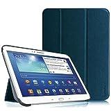 Fintie Samsung Galaxy Tab 3 10.1 Hülle Case – Ultradünne Lightweight superleicht Ständer SlimShell Cover Schutzhülle Tasche Etui mit Auto Sleep Wake up für Samsung Galaxy Tab 3 (10,1 Zoll) P5200 / P5210, Marineblau