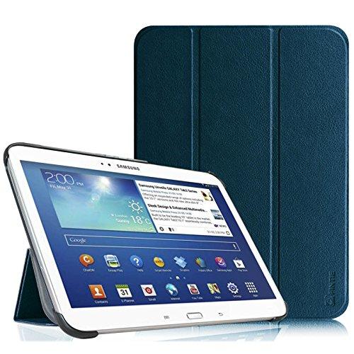 Fintie Samsung Galaxy Tab 3 10.1 Hülle Case – Ultra Slim Lightweight superleicht Ständer Smart Shell Cover Schutzhülle Tasche Etui mit Auto Sleep Wake up für Samsung Galaxy Tab 3 (10,1 Zoll) P5200 / P5210, Marineblau