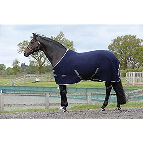 Weatherbeeta Thermic Quilt Cooler collo standard, Navy/Grey/White, 7ft 3