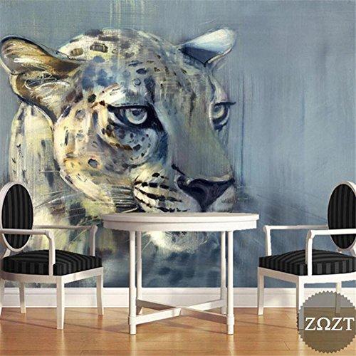 MOPP Tapeten Wallpaper Creative Leopard Tiermuster 3D Benutzerdefinierte Fresko Schlafzimmer/Wohnzimmer/Restaurant/Themenhotel