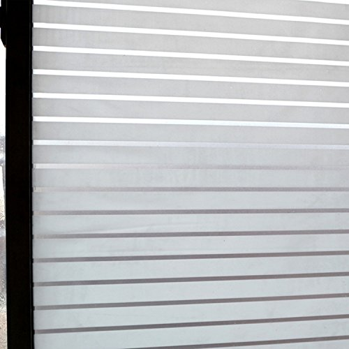 Concus-T Estática aferran vinilo premium Frosted rayas de privacidad lámina para ventanas...