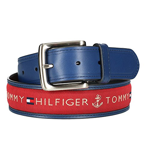 Tommy Hilfiger 08-4618-42-Cintura Uomo Navy with Red Inlay 100