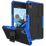 Für Sony Xperia X Performance / X Performance Dual (5 Zoll) Hülle ZeWoo® Heavy Duty Case Cover Outdoor Sport Tasche Shockproof Schutzhülle Gürtel-Clip Ständer - HH008 / Blau