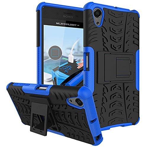 Für Sony Xperia X Performance / X Performance Dual (5 Zoll) Hülle ZeWoo® Heavy Duty Case Cover Outdoor Sport Tasche Shockproof Schutzhülle Gürtel-Clip Ständer - HH008 / - Dual-tasche-gürtel