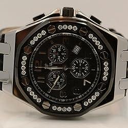 Aqua Master Royal Oak Mens Diamond Watch 1.50ctw W3259