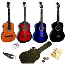 Pack Guitare Classique 4/4 Avec 5 Accessoires ~ Neuve & Garantie (bleue)