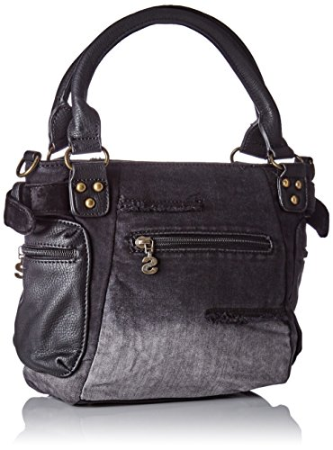 Desigual Bols_mcbee Mini Blackout. 2000. U - Donna, Nero (Negro), 10.70x23.20x20.50 cm (b x h t)
