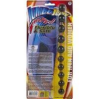 NMC - Jumbo Jelly Thai Beads - Analkette für Sie und Ihn - ca. 27,5 cm lang - Ø 1,5 bis max. 2,3 cm, schwarz
