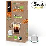 King Cup - Caffè Biologico & Fairtrade - Intenso - 5 confezione da 10 Capsule Biodegradabili Nespresso®* (50 capsule)