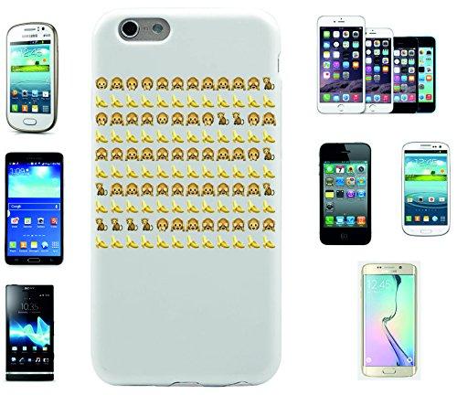 """Smartphone Case Apple IPhone 7+ Plus """"Affen mit Bannanen Emoji"""", der wohl schönste Smartphone Schutz aller Zeiten."""