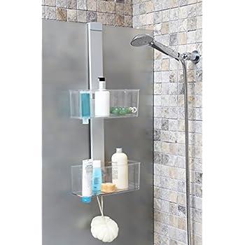 duschregal duschablage aus hochwertigem aluminium mit zwei k rben zum h ngen oder zur. Black Bedroom Furniture Sets. Home Design Ideas