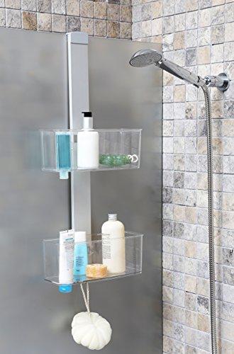 duschkorb haengend edelstahl Duschregal, Duschablage aus hochwertigem Aluminium mit Zwei Körben. Zum Hängen oder zur Wandmontage. Topp!