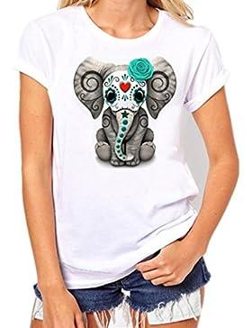 FNKDOR Impresión de las mujeres Camiseta de manga corta Camiseta de manga corta