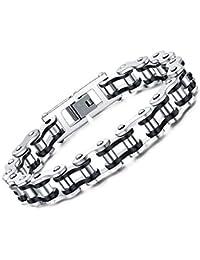 Faysting EU Bracciale catena in acciaio inox moto personalizzata roccia stile degli uomini