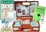 Erste-Hilfe-Koffer KITA M1 -Paket 2- nach DIN/EN 13157 für Betriebe + DIN/EN 13164 für KFZ inkl. 1.Hilfe AUSHANG & Hygiene-Ausstattung