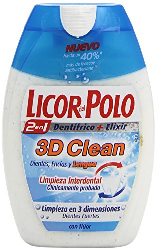 Licor del Polo Dentifricio, 2 in 1 3D Clean Toothpaste, 75 ml
