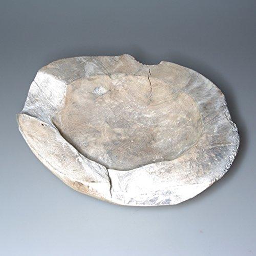 Capricious Bol décoratif en teck massif Ø env. 20-25 cm - Pièce unique - 2763, Teck, Teak Weiß - Stone Washed, 20-25 cm