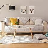 Funda de sofá,Sencillo y moderno sofá cojines Algodón universales cuatro estaciones Cojín de sofá de la sala europea Toalla de funda de sofá antideslizante Cubierta del brazo del sofá-G 70x180cm(28x71inch)