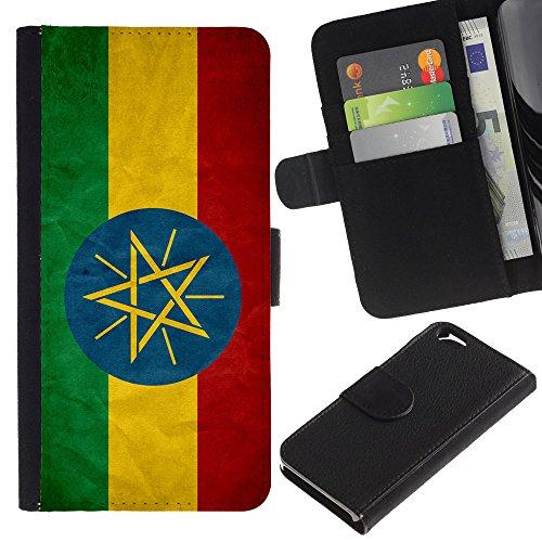 Graphic4You Vintage Uralt Flagge Von Namibia Namibisch Design Brieftasche Leder Hülle Case Schutzhülle für Apple iPhone 6 / 6S Äthiopien Äthiopier