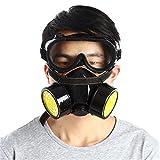 KUNSE Doppelfilter Gas Schutzmaske Filter Chemische Atemschutzmaske Für Feuer Selbsthilfe Schutz