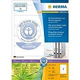Herma 8620 Ordnerrückenetiketten (A4 Papier matt, blickdicht, 192 x 38 mm) 70 Stück weiß