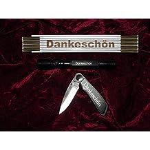 """'Set de regalo """"Dankeschön con ZOLLSTOCK"""", de varilla linterna y navaja en una práctica caja de regalo"""