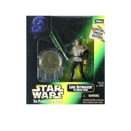 Star Wars: Power of the Force Millenium Coin Edition Luke Skywalker in Endor Gear Action Figure (Endor Gear)