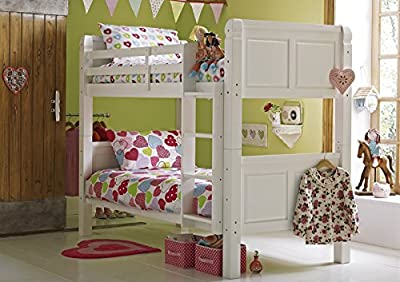 Cloudseller 3FT SOLID PINE BUNK BED IN WHITE FINISH SPLIT INTO TWO BEDS EXCELLENT QUALITY - cheap UK Bunkbed store.