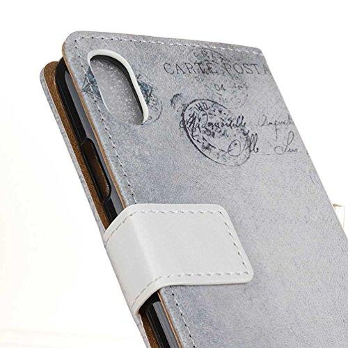 Coque Pour iPhone X, Coloré Motif PU Cuir portefeuille Housse Etui pour iPhone X Case Coque Protection Flip Cover avec carte de crédit Slots (KW-14#) KW09#