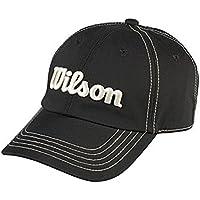 Wilson Golf gorra Tour con forma, acento de sutura y cierre de Velcro en la parte posterior Negro negro