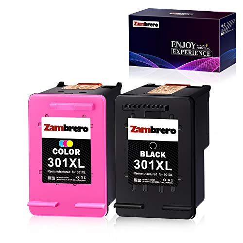 Zambrero Remanufactured HP 301XL 301 XL Druckerpatronen (Schwarz, Farbe) für HP Deskjet 1000 1010 1050 1050A 1510 2050 2050A 2510 2540 3050 3050A 3055A, HP ENVY 4500 4504 5530, HP Officejet 2620 4630