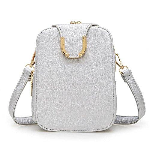 DJB/Damen Schulter Taschen Freizeit Taschen Tide Handy Paket Silber
