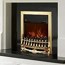 Cheminée foyer électrique murale décorative chauffage flamme LED surface chaufée 30㎡ 1000W/2000W or neuf 43