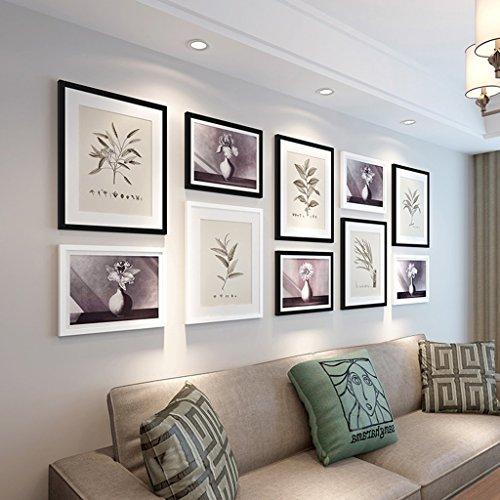 Preisvergleich Produktbild Edge to Dekorrahmen Fotorahmen Sets Nordische Foto-Wand, Wand-Foto-Galerie-Rahmen-Satz Wand mit verwendbarer Grafik und Familie, Satz von 10 Wänden Foto ( Farbe : C )