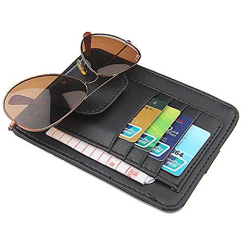 Auto CD/DVD-Halter Disc PU-Leder Storage Fall Sonnenbrille Organizer Sonnenblende Sonnenschutz Hülle Wallet Clips -