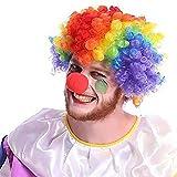 TUROBOT Halloween Afro Perruques Cosplay Cheveux Clown coloré perruque synthétique fans de football perruque pour Coupe Europe 2016...