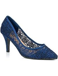 8e5fa637081de Amazon.fr   Escarpins Bleu Marine - Escarpins   Chaussures femme ...