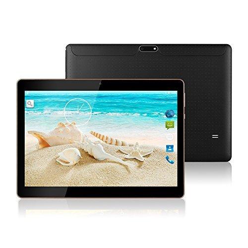 MaiTai 10 Inch Tablet Pc Android 7.0 2560X1600 IPS Tablets PC Octa Core RAM 4GB ROM 64GB 8.0MP 3G MTK6592 Dual sim card Phone Call GPS Bluetooth 7 9 Black (High Photo Ultra Resolution)