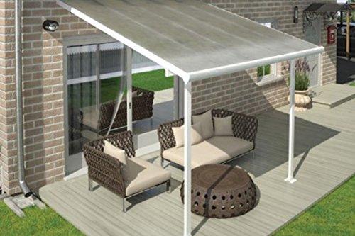 Di alta qualità In Alluminio terrazza ueberdachung/Veranda-300X 300(BxT)/ueberdachung Palram Feria Bianco