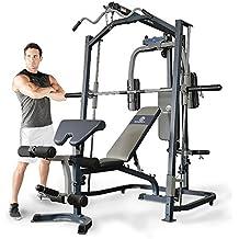 Marcy MP3100 Smith Multigym. Incluye banco de pesas. Tabla de ejercicios. Gimnasio en casa. Musculación completa