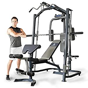 Marcy Home Gym Smith Machine with Multi Press Weight Bench