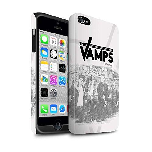 Offiziell The Vamps Hülle / Matte Harten Stoßfest Case für Apple iPhone 4/4S / Pack 6pcs Muster / The Vamps Fotoshoot Kollektion Skizzieren