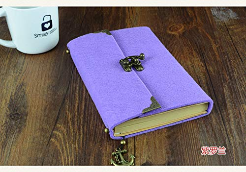Notepad Business Notebook Flyer Notebook Retro Notepad Journal Mixed Inside Pages Violet