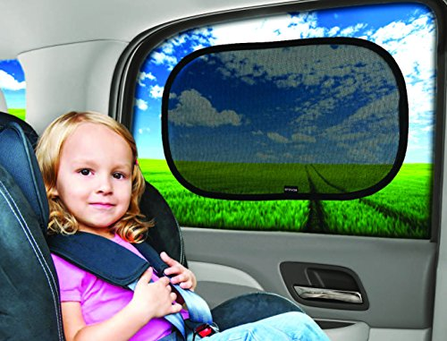 Car Sun Shade (2 Pack) - Premium Baby Car Window Shades are best for blocking over 97% of Harmful UV Rays while protecting your child from sunlight and