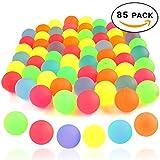 THE TWIDDLERS 85 Pelotas saltarinas variadas en Brillantes Colores fosforescentes - 5 Colores Variados - Perfectas para Rellenar Bolsas, Bolsas de Fiesta, premios de Clase y Mucho Más
