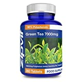 Green Tea Extract 7000mg (High Strength) x 360 Tablets | Antioxidant - Helps Achieve Weight Loss - Made in UK