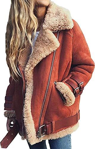 2019 Neuestes Design Herbst Winter Jacke 2019 Mode Neue Zweireiher Pullover Revers Lose Pelz Jacke Frauen Outwear Frauen Mantel Damen Jacke Fein Verarbeitet Frauen Kleidung & Zubehör Jacken & Mäntel