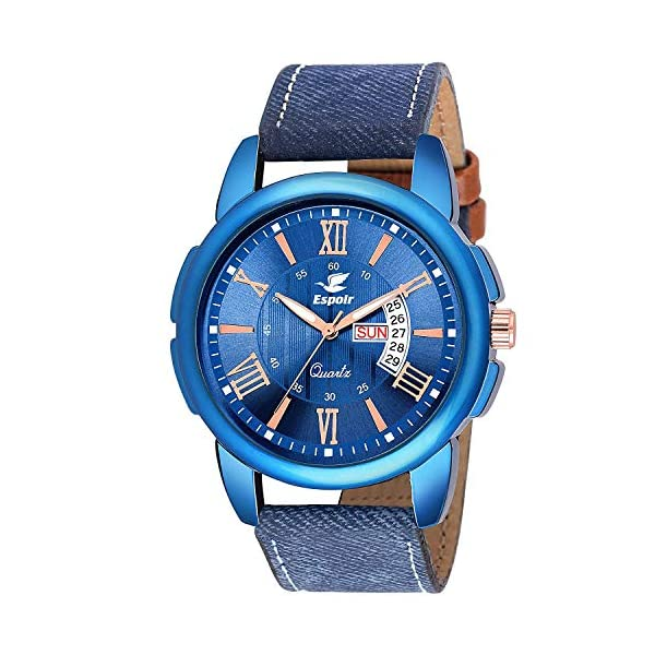 Espoir Analogue Blue Dial Day and Date Men's Boy's Watch – LS3050-2