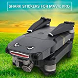 Dairyshop 2x Shark Sticker Decal Skin Face Sticker for DJI Mavic Pro Drone Quadcopter New
